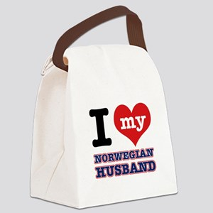 I love my Norwegian Husband Canvas Lunch Bag