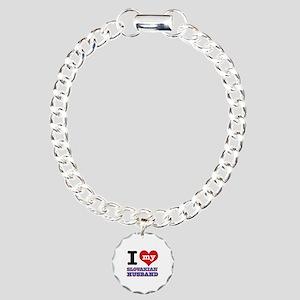 I love my Slovakian Husband Charm Bracelet, One Ch