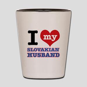 I love my Slovakian Husband Shot Glass