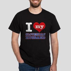 I love my Slovenian Husband Dark T-Shirt