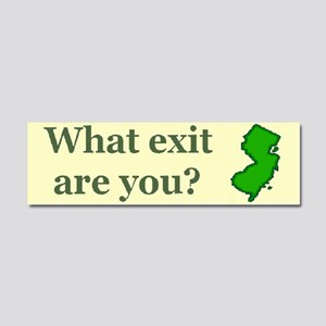 3-what exit are you Car Magnet 10 x 3