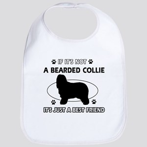 Bearded Collie designs Bib