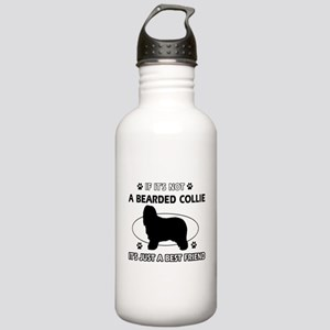 Bearded Collie designs Stainless Water Bottle 1.0L