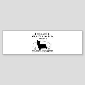 Australian Silky Terrier designs Sticker (Bumper)