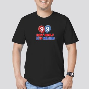 99 year old designs Men's Fitted T-Shirt (dark)