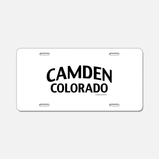 Camden Colorado Aluminum License Plate