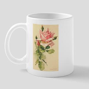 Pink Rose Victorian Flower Vi Mug