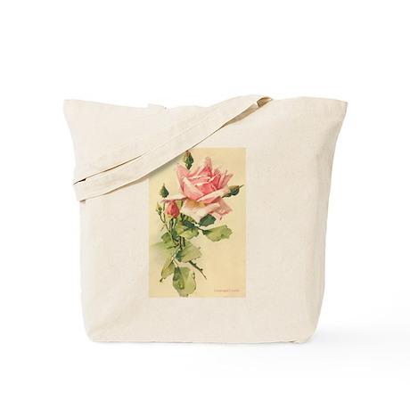 Pink Rose Victorian Flower Vi Tote Bag