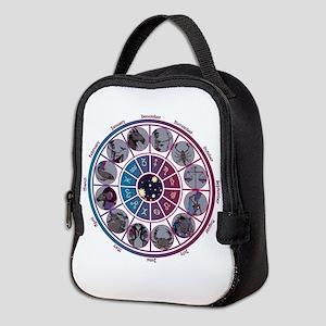 Starlight Zodiac Wheel Neoprene Lunch Bag