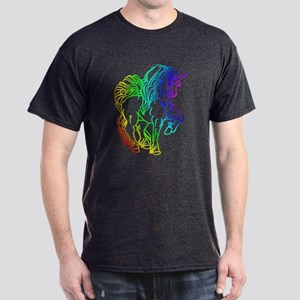 Rainbow Unicorn Dark T-Shirt