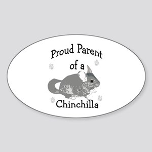Chinchilla Parent Oval Sticker
