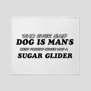 Sugar Glider designs Throw Blanket