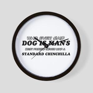 Standard Chinchilla designs Wall Clock