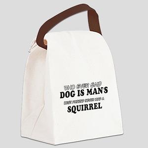 Squirrel designs Canvas Lunch Bag
