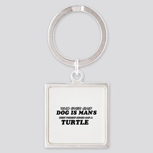 Turtle designs Square Keychain