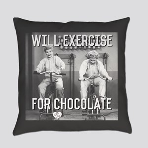 Lucy Ethel Exercise For Chocolate Everyday Pillow
