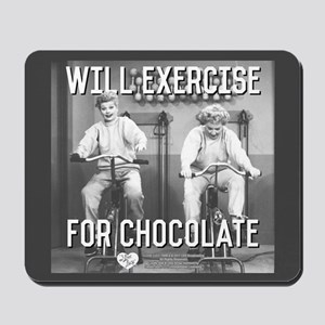 Lucy Ethel Exercise For Chocolate Mousepad