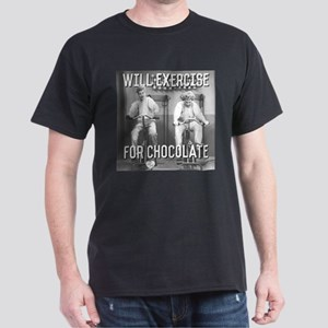 Lucy Ethel Exercise For Chocolate Dark T-Shirt