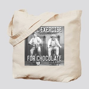Lucy Ethel Exercise For Chocolate Tote Bag