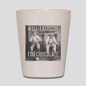 Lucy Ethel Exercise For Chocolate Shot Glass