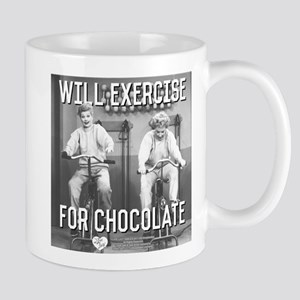 Lucy Ethel Exercise For Chocolat 11 oz Ceramic Mug