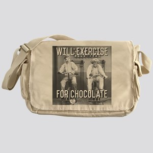 Lucy Ethel Exercise For Chocolate Messenger Bag