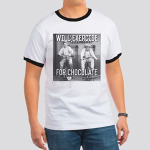 Lucy Ethel Exercise For Chocolate Ringer T