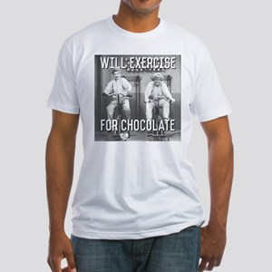 Lucy Ethel Exercise For Chocolate Fitted T-Shirt