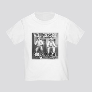 Lucy Ethel Exercise For Chocolate Toddler T-Shirt