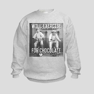 Lucy Ethel Exercise For Chocolate Kids Sweatshirt