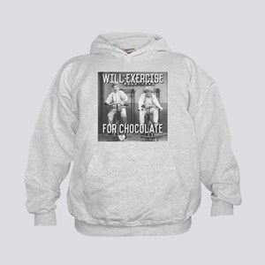 Lucy Ethel Exercise For Chocolate Kids Hoodie