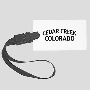 Cedar Creek Colorado Luggage Tag