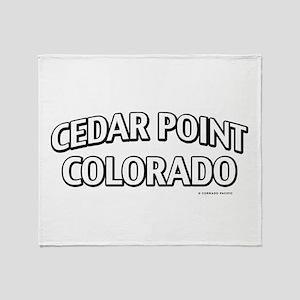Cedar Point Colorado Throw Blanket
