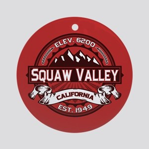 Squaw Valley Red Ornament (Round)