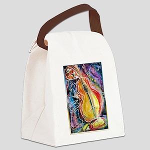 Bass player, fun music art Canvas Lunch Bag