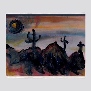 Desert, southwest landscape, art, Throw Blanket
