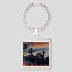 Desert, southwest landscape, art, Keychains