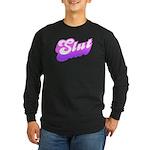 SLUT Long Sleeve Black T-Shirt