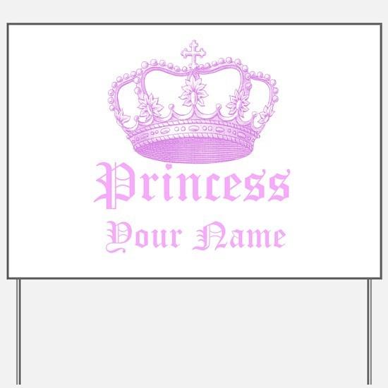 Custom Princess Yard Sign