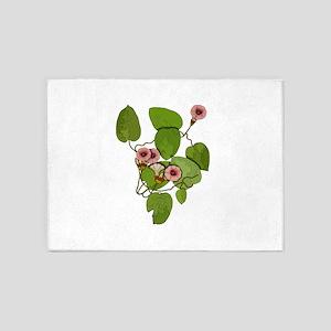 Hawaiian Baby Woodrose 2 5'x7'Area Rug
