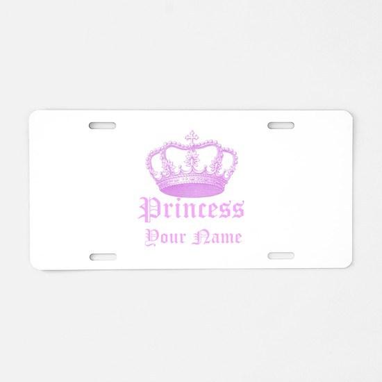 Custom Princess Aluminum License Plate