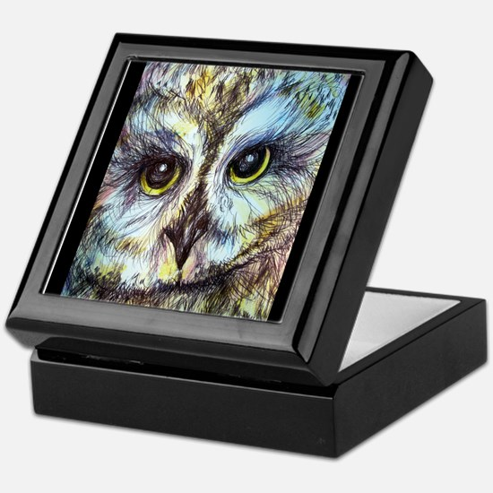 Owl, wildlife art! Keepsake Box