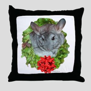 Chinchilla Wreath Throw Pillow