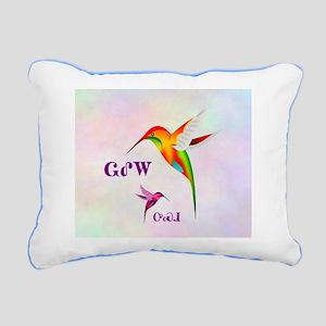 Cherokee Hummingbird Rectangular Canvas Pillow