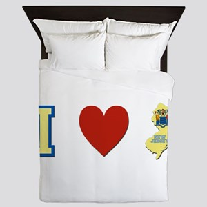 I Love New Jersey Queen Duvet