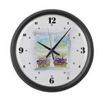 Window #3 Large Wall Clock with hours