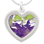 Window #3 Silver Heart Necklace