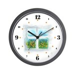 Window #5 Wall Clock with hours