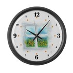 Window #5 Large Wall Clock with hours