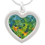 Window #5 Silver Heart Necklace